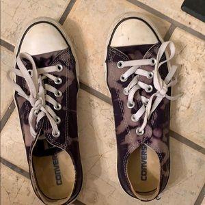 Navy Bleach Dyed Converse